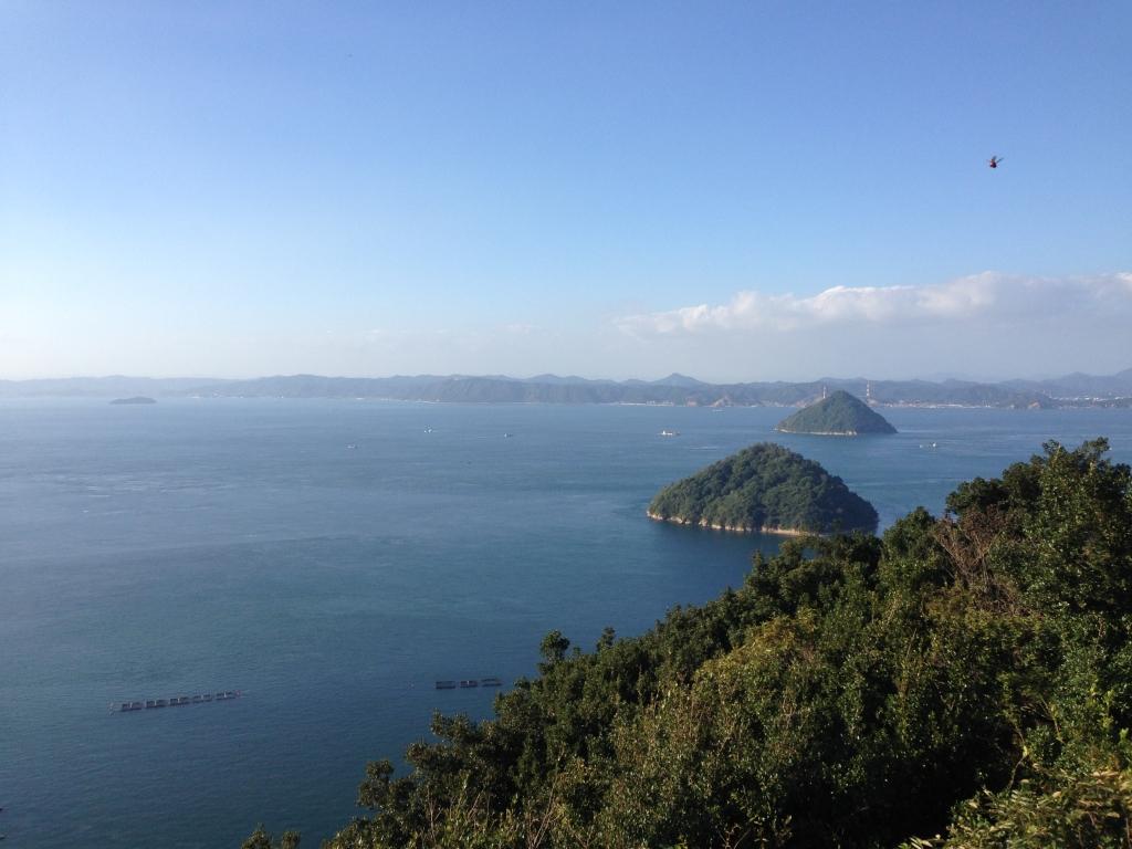 大崎山園地からの景色が最高だった(香川県坂出市)